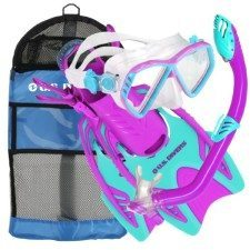 US Divers Junior Snorkel Set with Dry Top