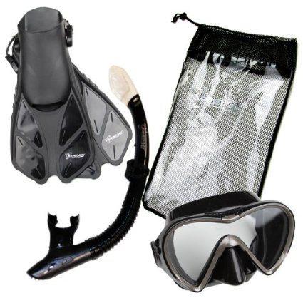 sseavenger-snorkel-set-black