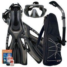Promate Snorkel Set with Bag and Defogger