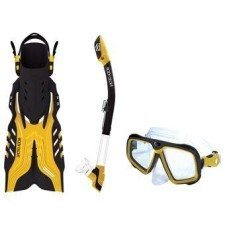 Body Glove Adult Snorkel Set with Rapeedo Fins