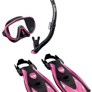 tusa snorkel set review women pink