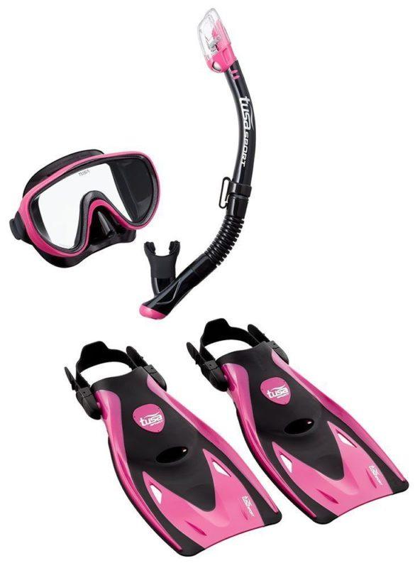 tusa snorkel set review women pink