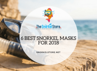 snorkel mask laying on a beach blog cover