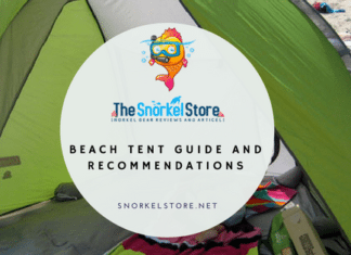 Blog title image with a beach tent