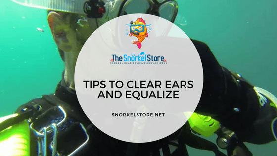 scuba diver equalizing ears