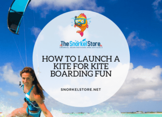 kite surfing how to launch blog post with kitesurfer