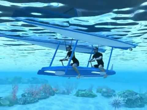 snorkeling boat with submersible pod